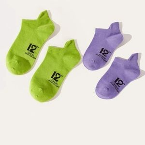 NWT mommy and me socks 💚💜